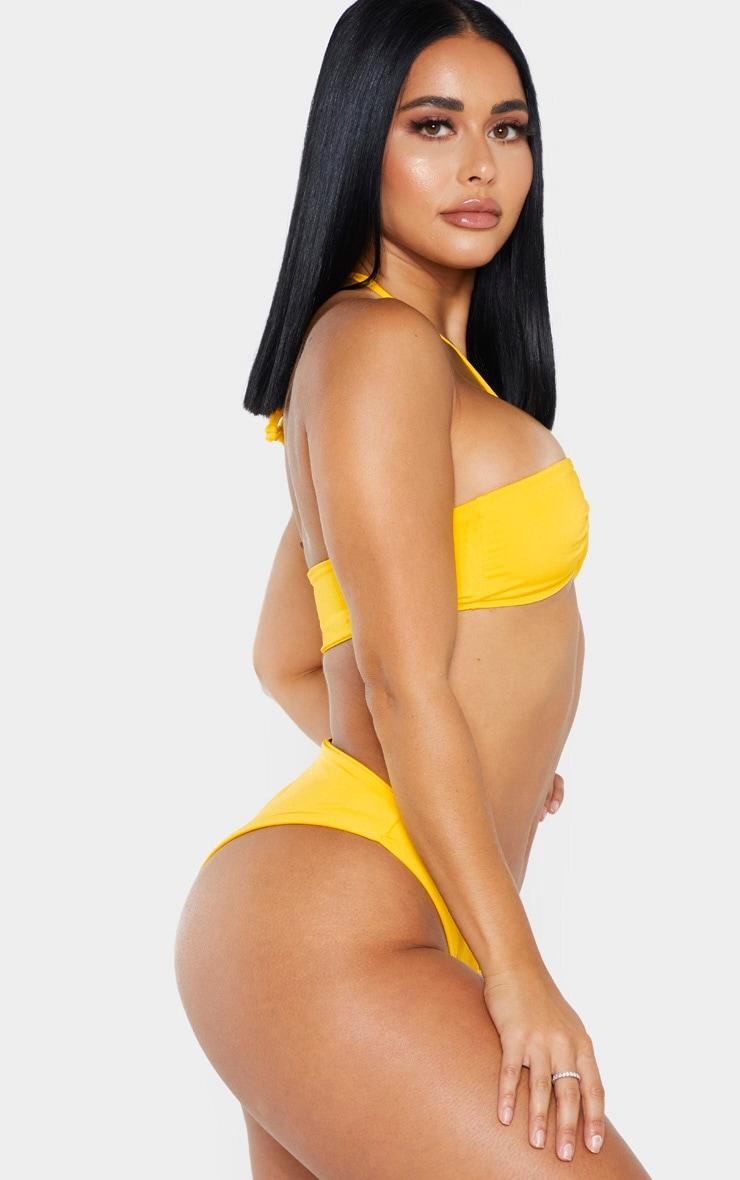 Shape Bright Yellow Tiny Bikini Bottom 2