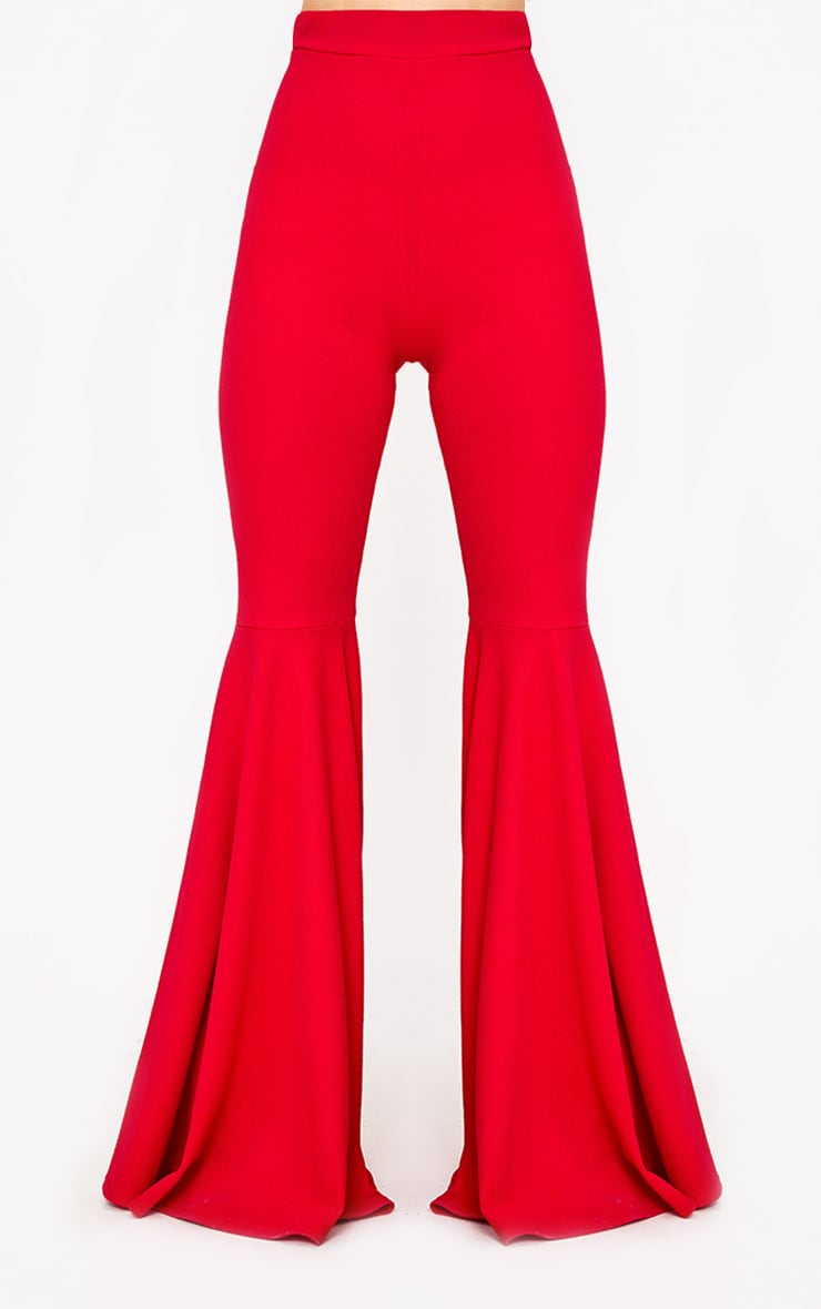 Red Extreme Flared Trousers 2