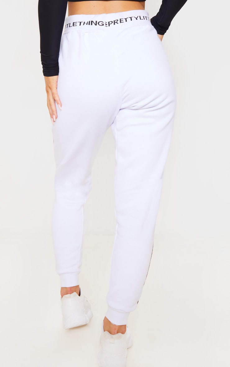 PRETTYLITTLETHING White Contrast Piping Cuff Jogger 4