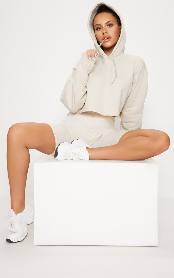 Sand Ultimate Oversized Crop Hoodie  4