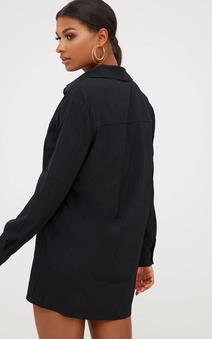 Effy robe chemise noire en crêpe 2