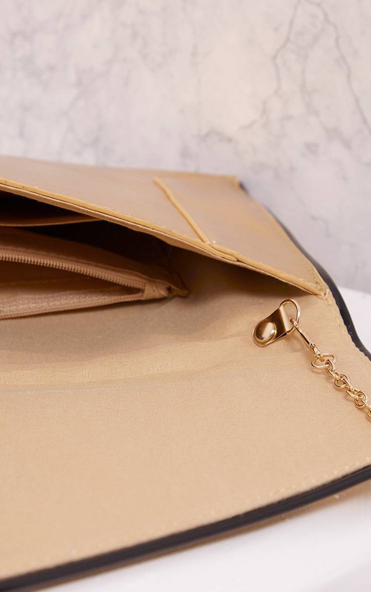 Wilona Gold Metallic Envelope Clutch 6