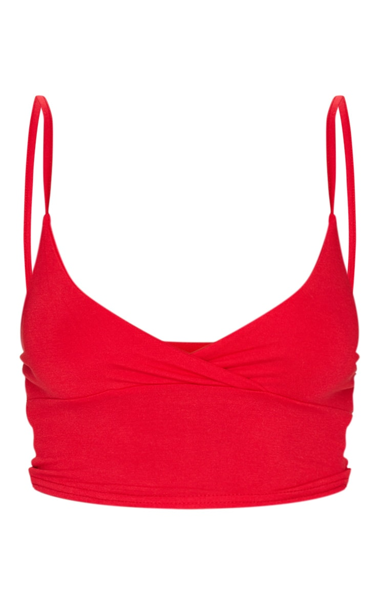 Basic Red Jersey Bralet 5