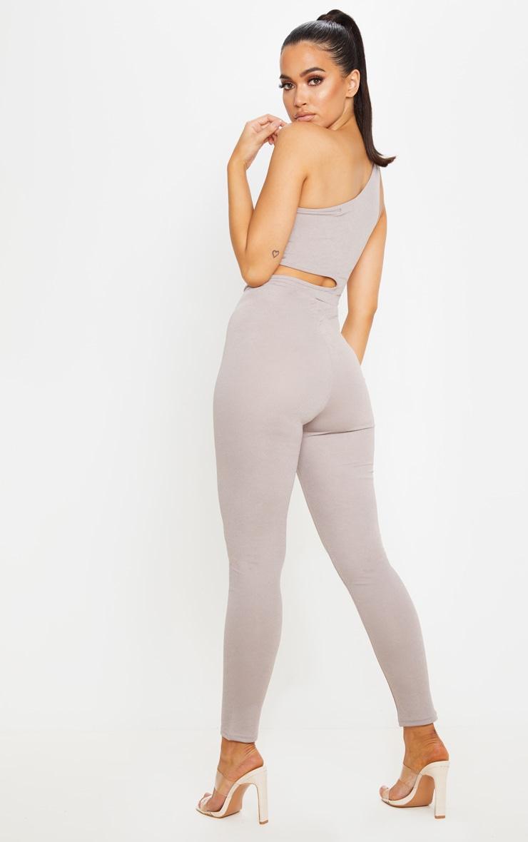 Grey One Shoulder Cut Out Jumpsuit 2