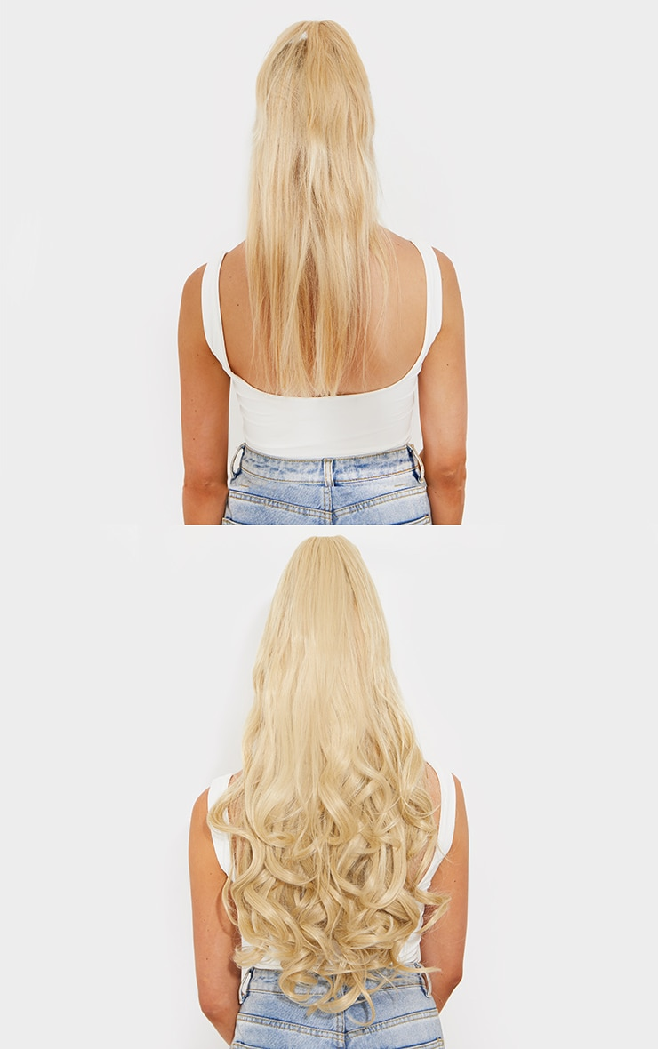 Lullabellz Ultimate Half Up Half Down 22 Curly Extension and Pony Set California Blonde 4