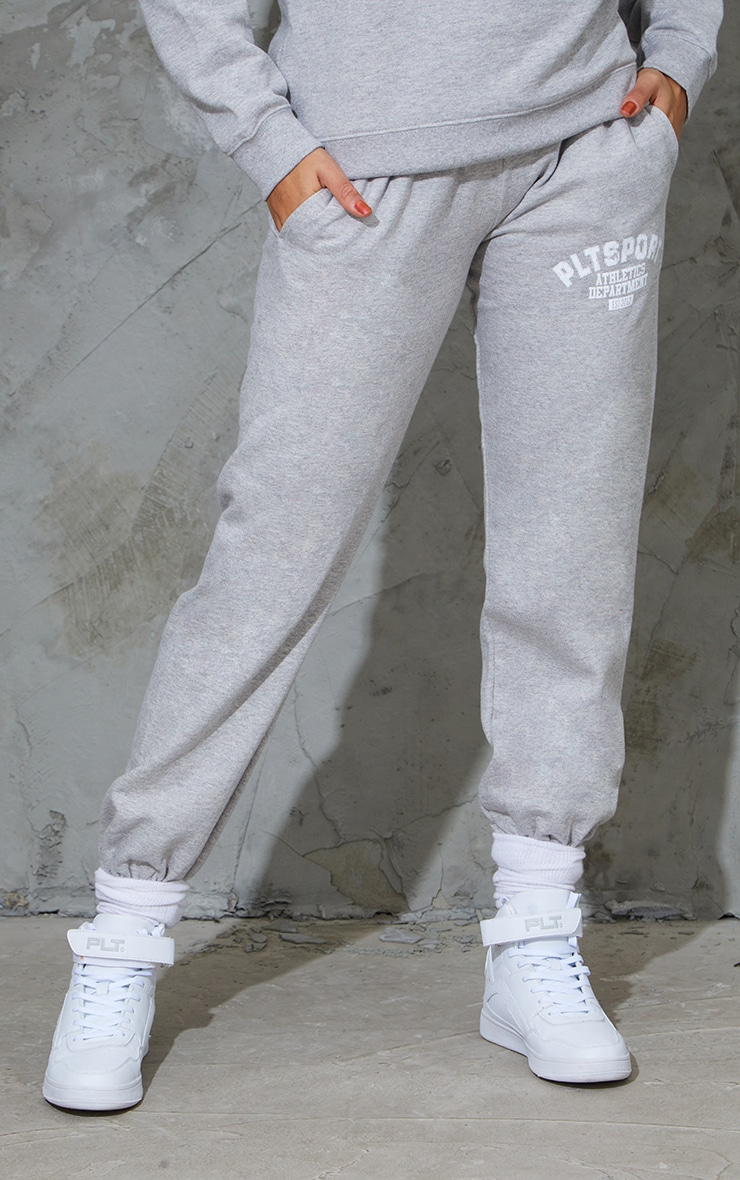 PRETTYLITTLETHING Grey Sport Oversized Joggers 2