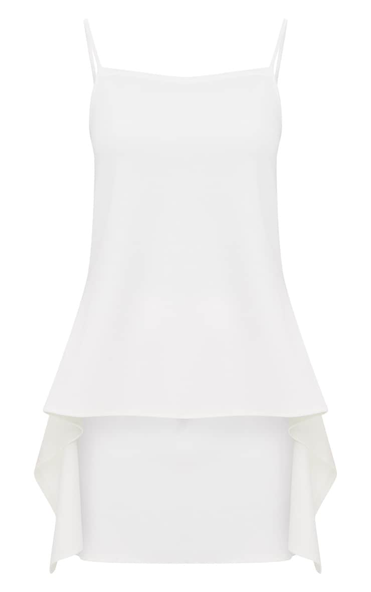 White Longline Waterfall Vest Top 3