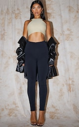RECYCLED Black Contour Jersey Leggings 1