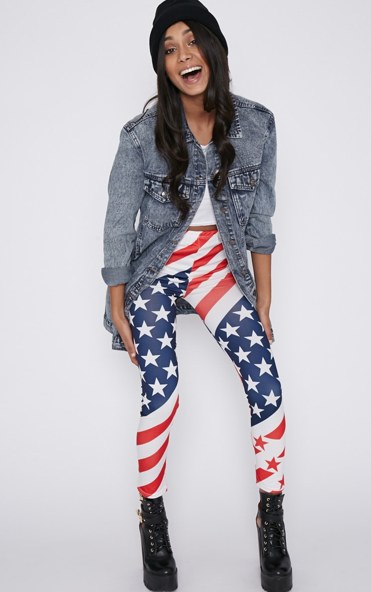 Morgana American Flag Legging  1