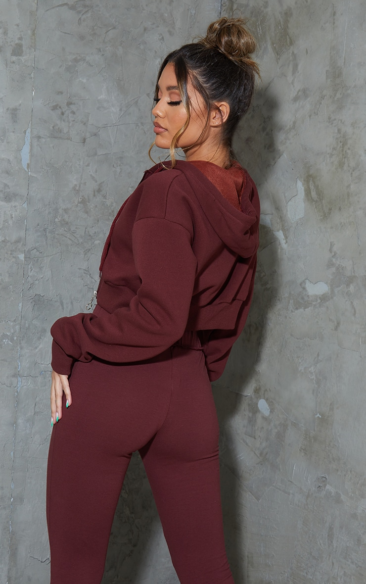 Hot Chocolate Double Zip Through Cropped Hooded Jacket 2