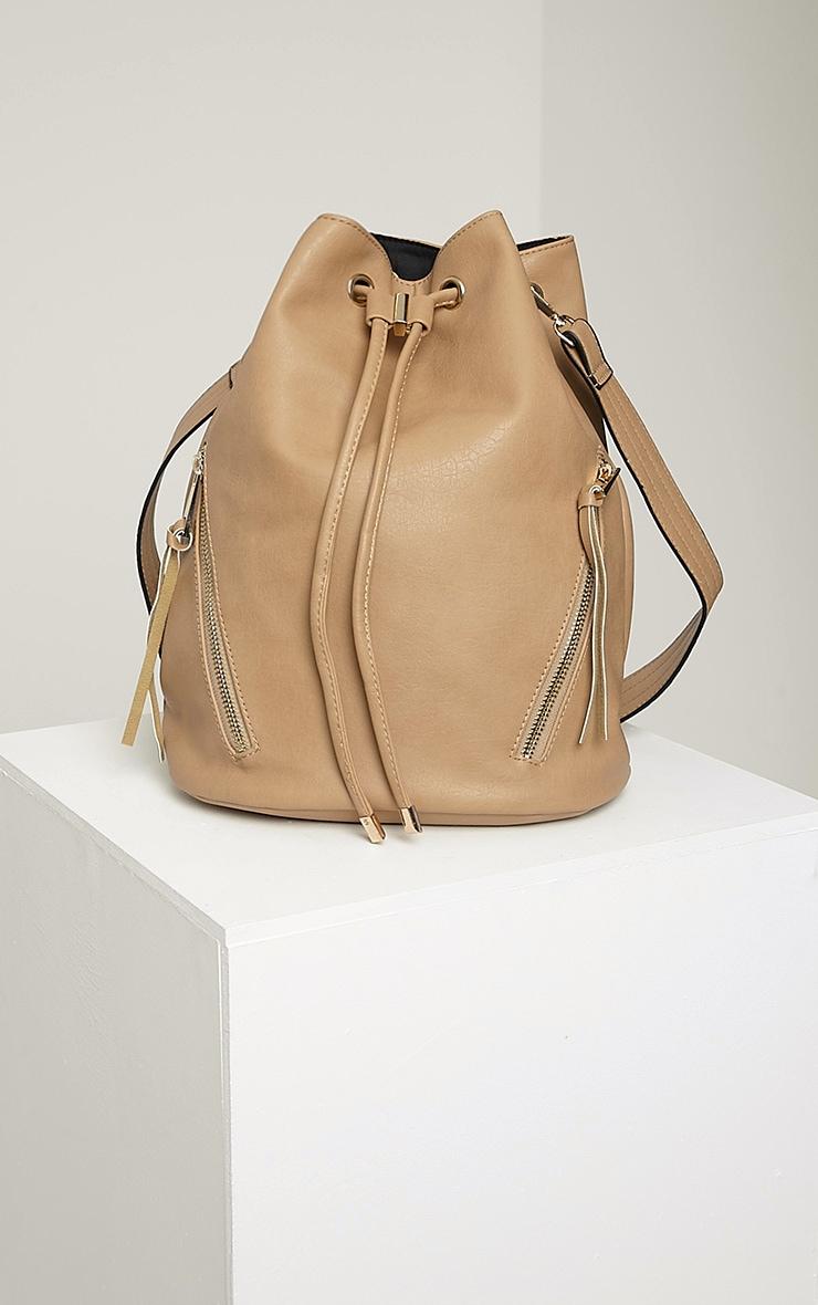 Annalisa Taupe Large Bucket Bag 3