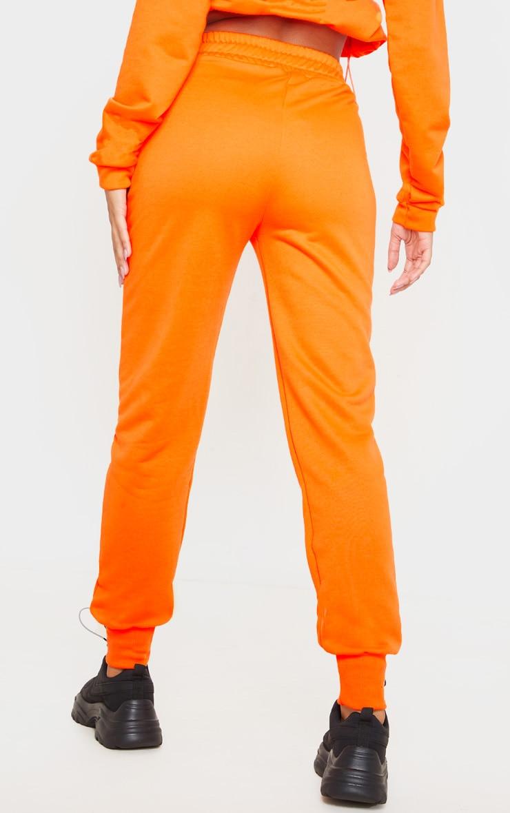 Orange Basic Gym Sweat Jogger 4