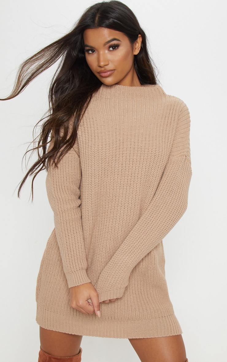 Iffy Stone Oversized Cable Knit Dress 1