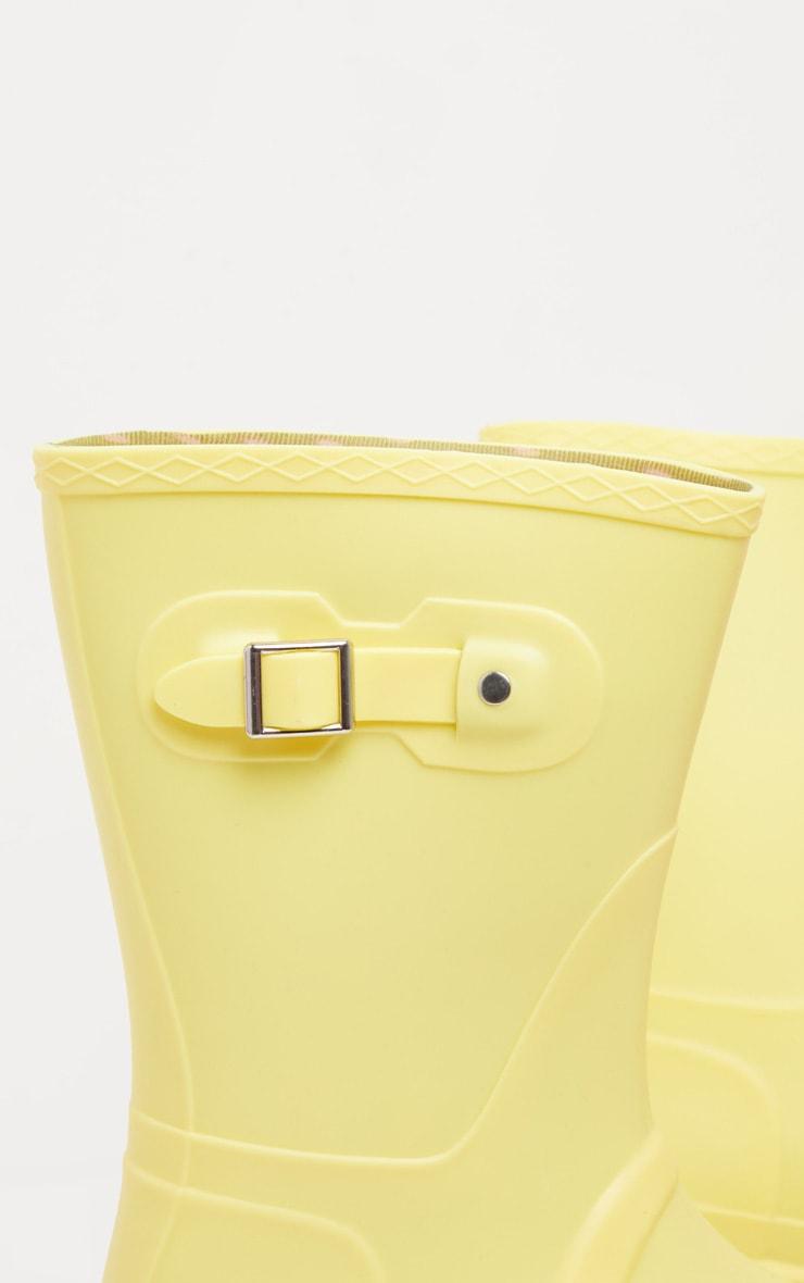 Lemon Pastel Wellie 4