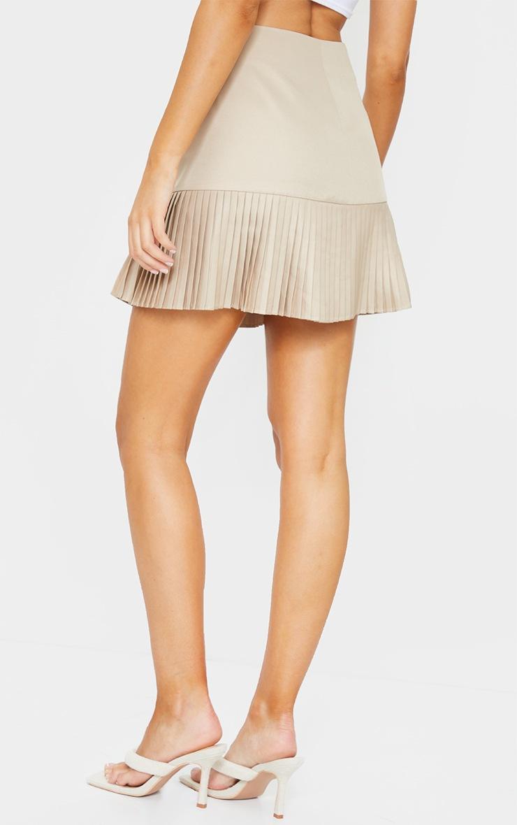 Stone Pleated Hem Mini Skirt 3
