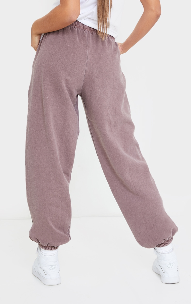 Mauve Washed Casual Joggers 3