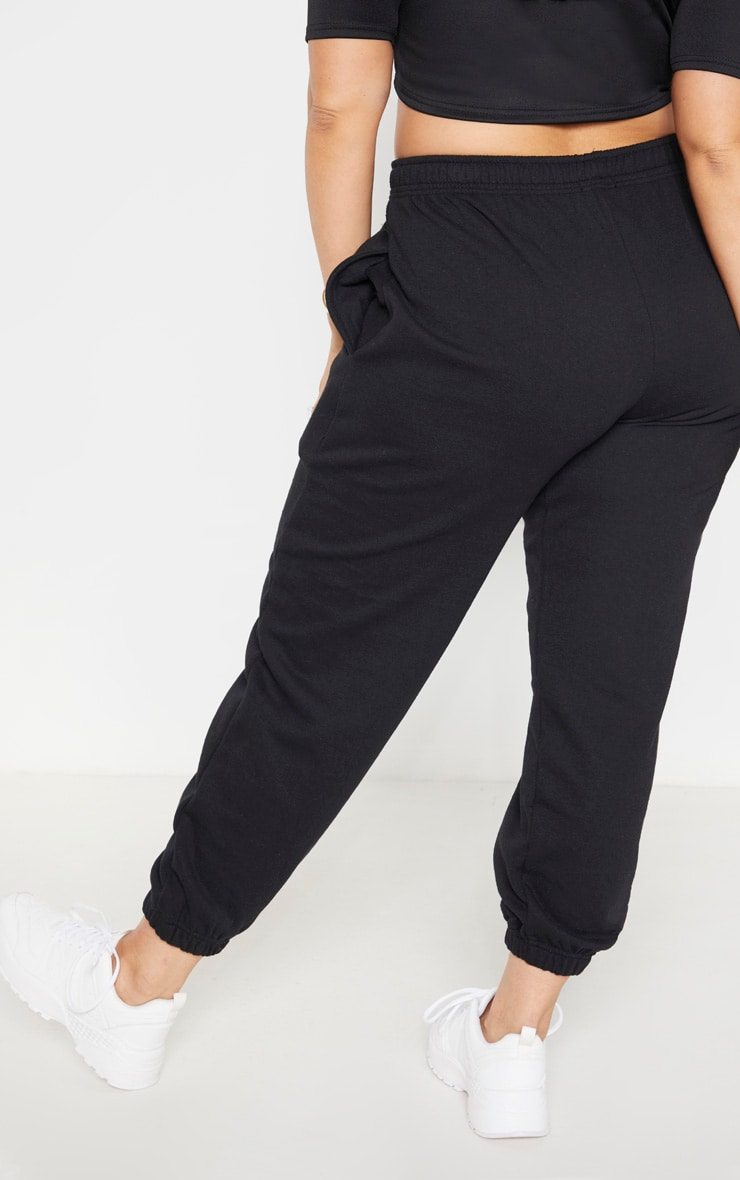 Plus Black Casual Sweat Jogger 4