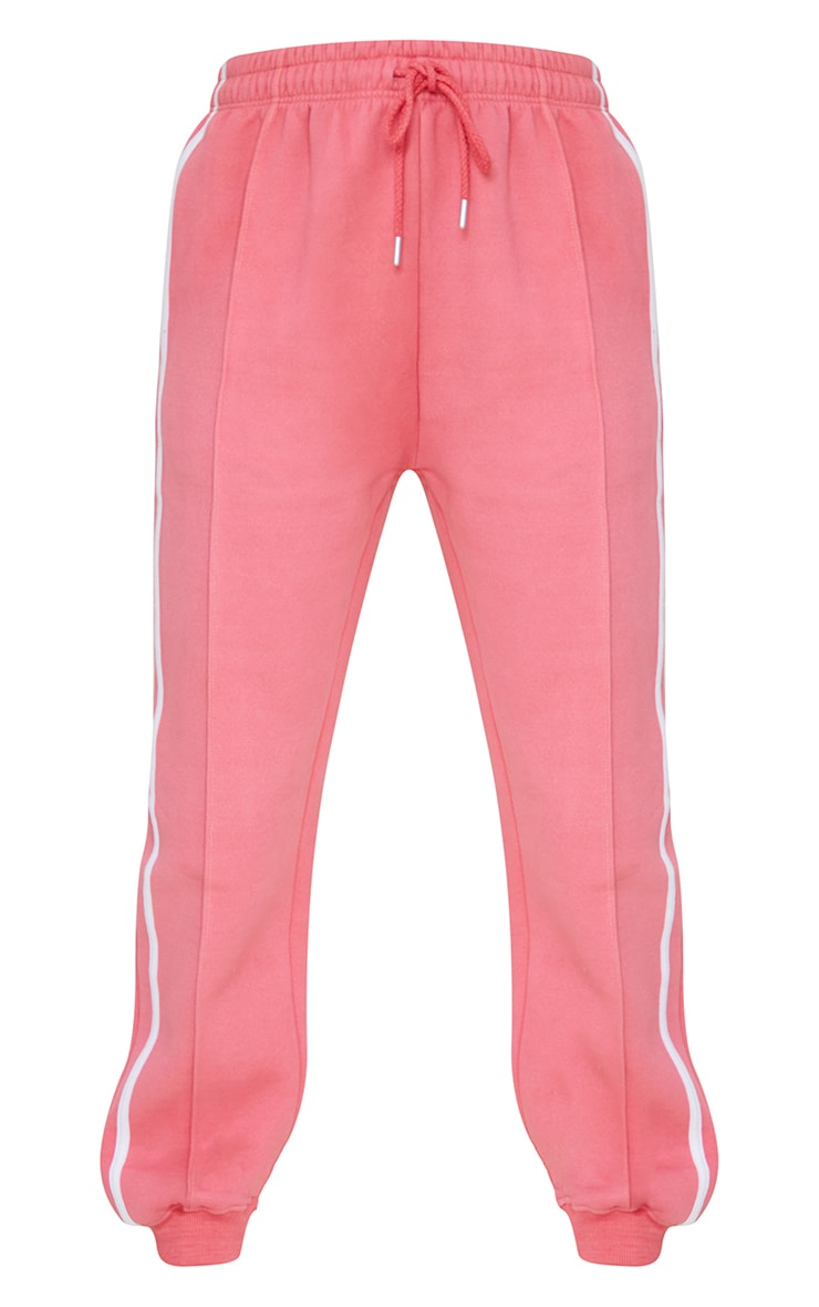 Candy Pink Double Side Stripe Joggers 5
