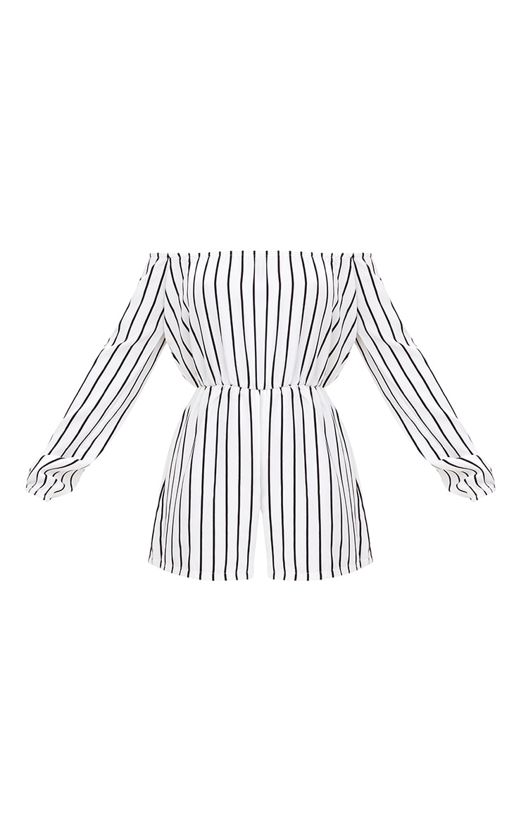 Kennie White Stripe Romper 3