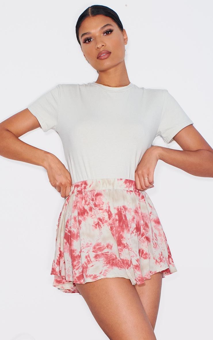 Pink Tie Dye Floaty Shorts 1
