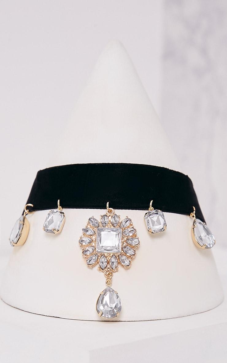 Maiti Black Jewel Drop Detail Choker 5