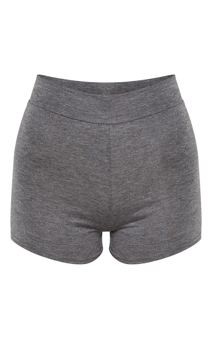 Short basique gris à taille haute 3
