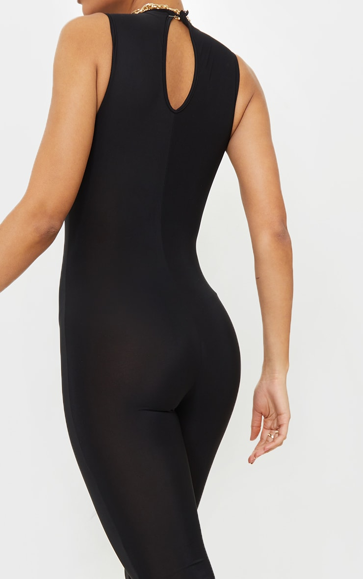 Black High Neck Sleeveless Jumpsuit 4