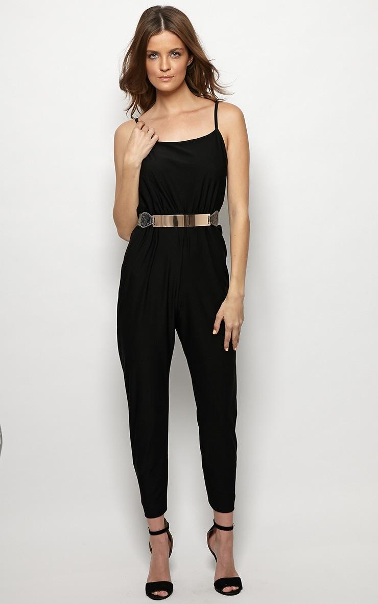 Scarlett Black Strap Detail Jumpsuit 4