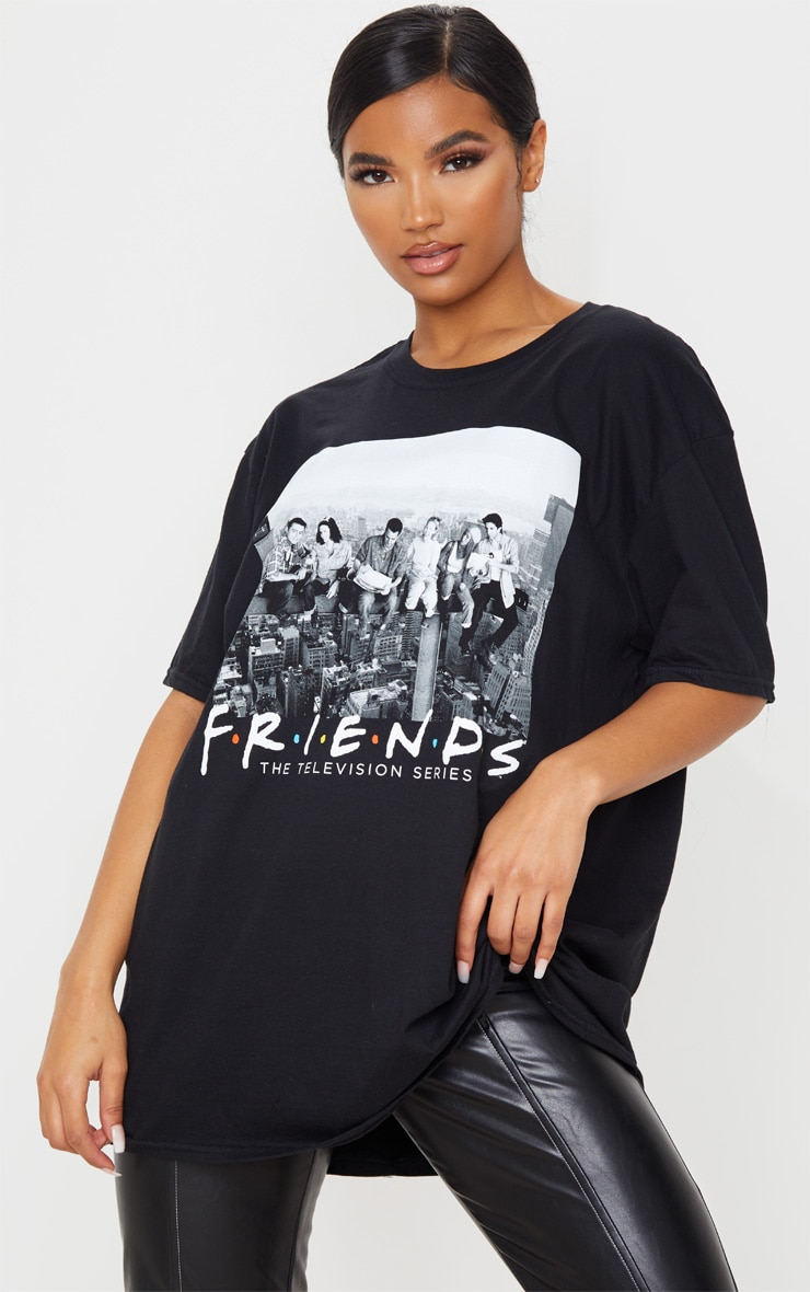 Black Friends New York Oversized T Shirt 1