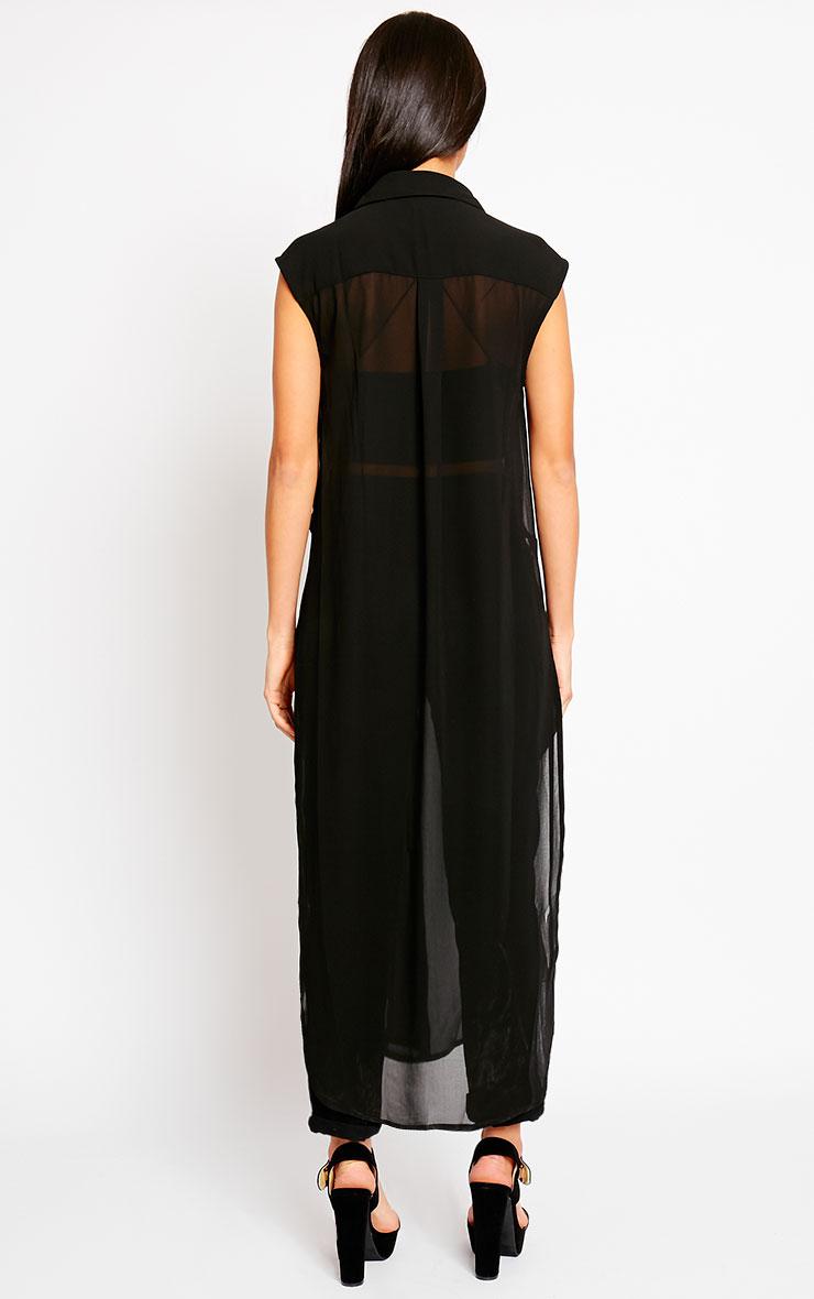 Cyndi Black Cut Out Shirt Dress 2