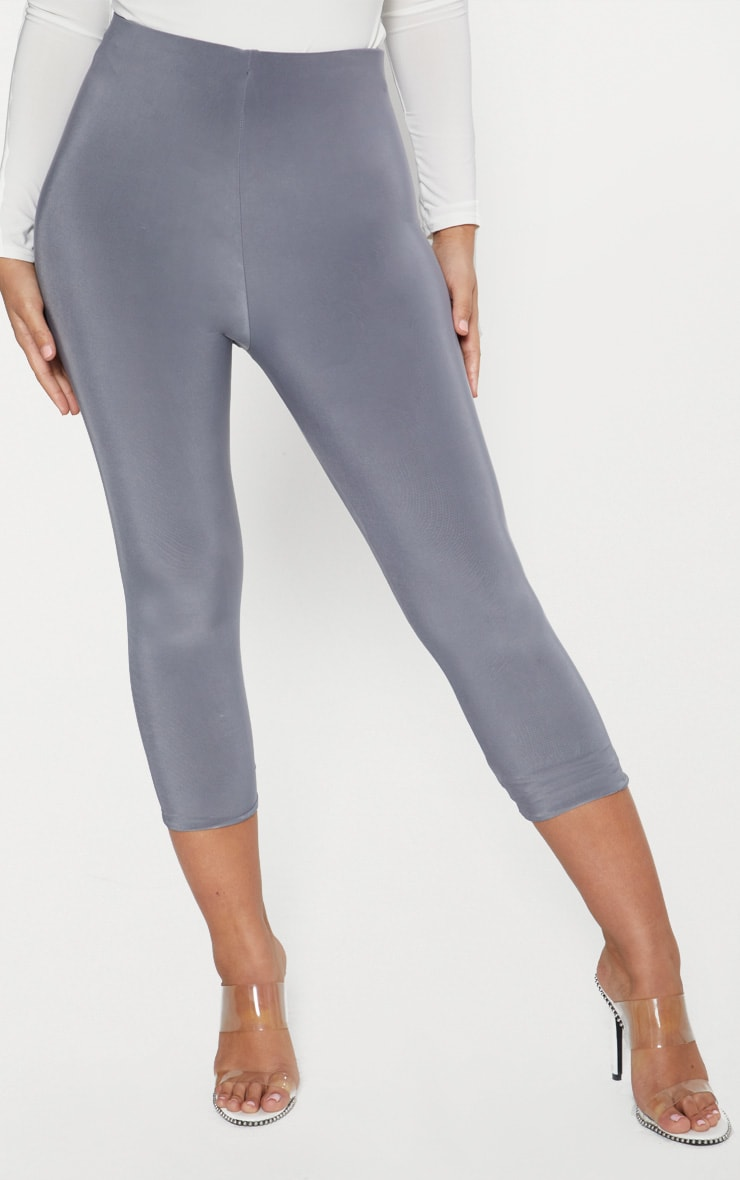 Grey Slinky Cropped Legging  2