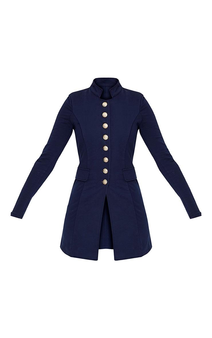 Deleana Navy Longling Military Style Jacket 3