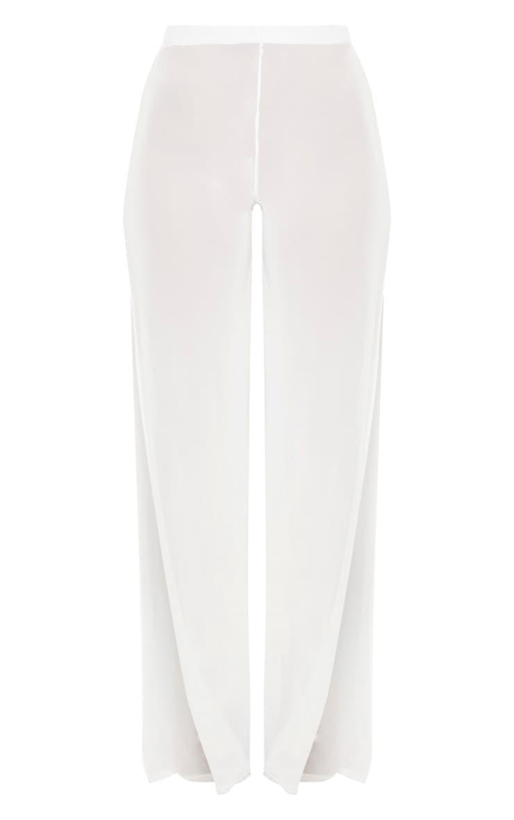 White Split Leg Beach Trouser 3