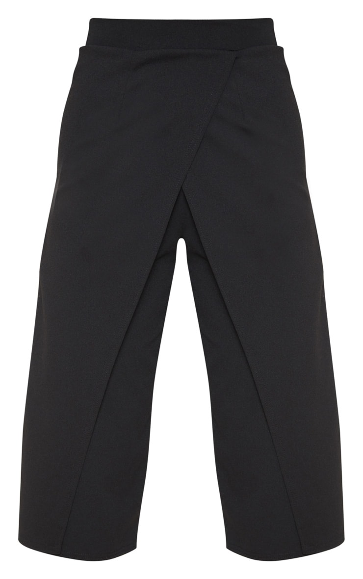 Jupe-culotte portefeuille noire 3