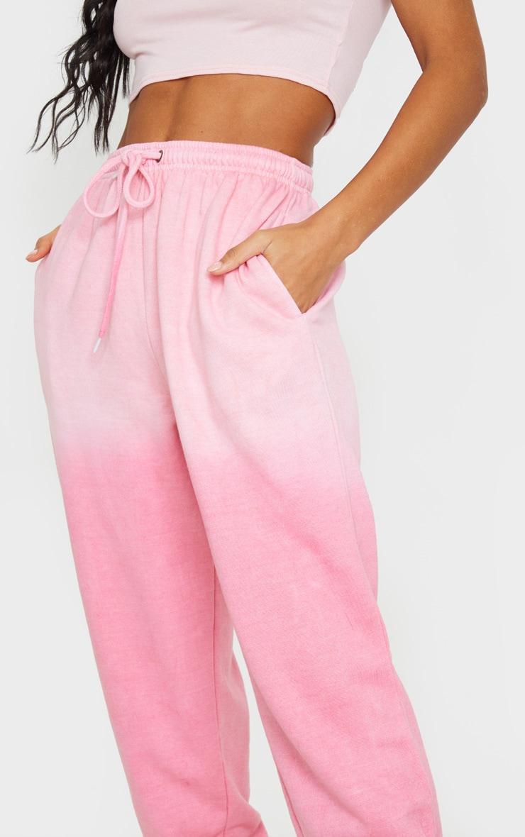 Pink Dip Dye Casual Jogger 4