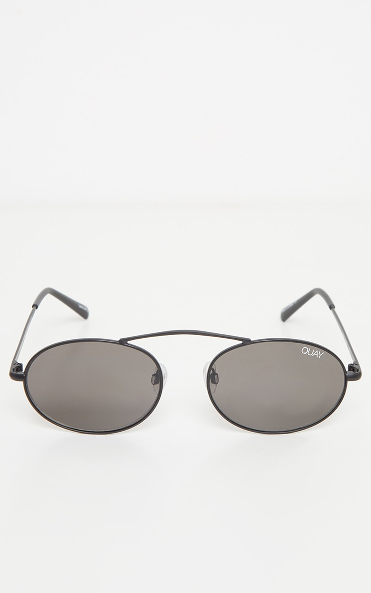 QUAY AUSTRALIA X FINDERS KEEPERS Black Frame Smoke Lens Oval Sunglasses 3