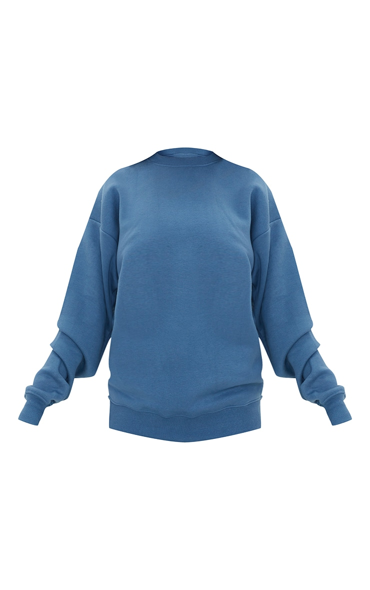 Recycled Dusty Blue Oversized Sweatshirt 5