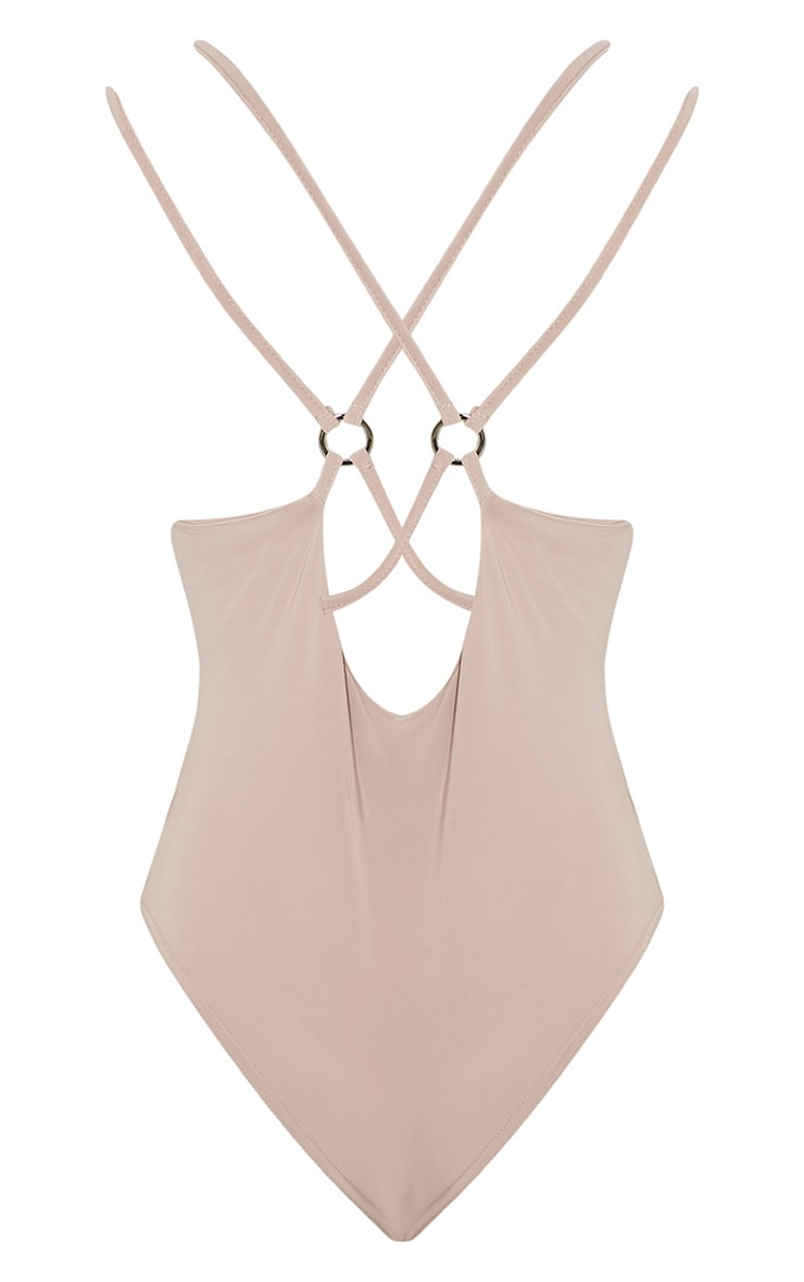 Darcie Stone Cross Back Ring Detail Bodysuit 5