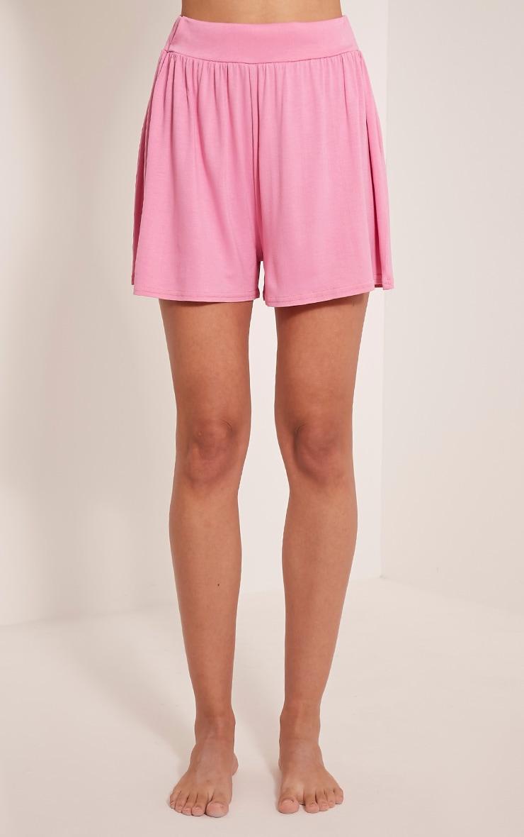 Lucilla Bubblegum Pink Jersey Floaty Shorts 2