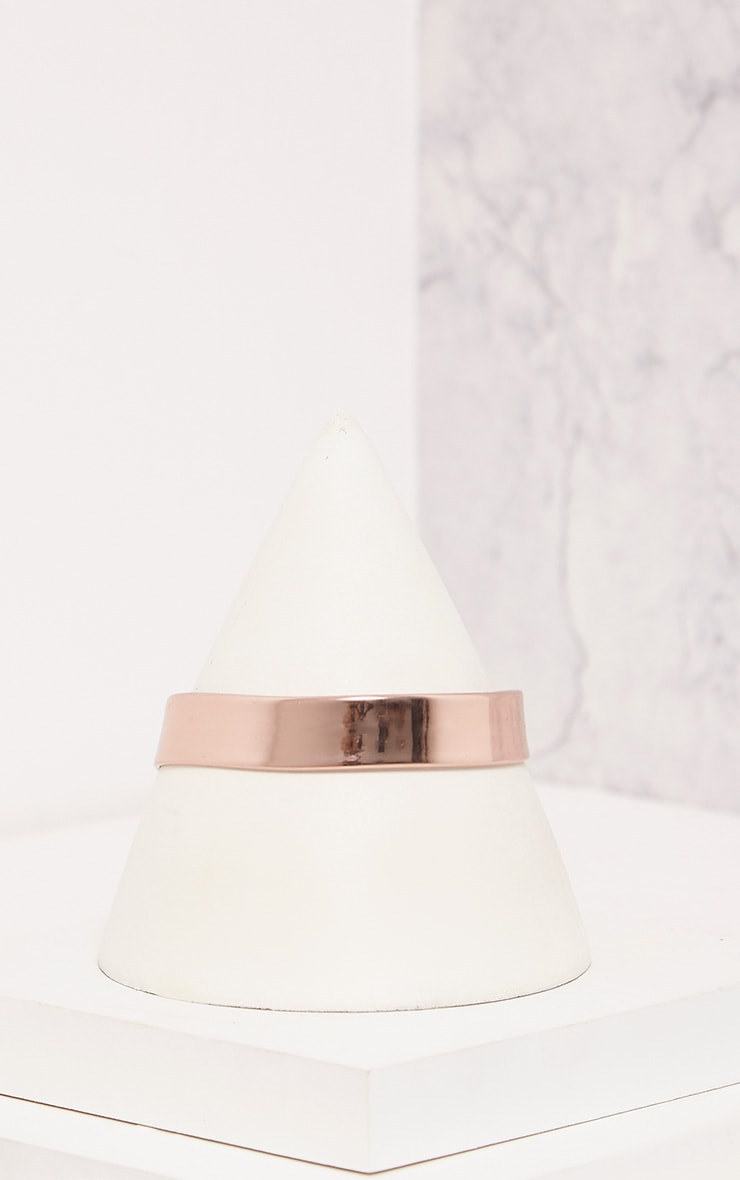 Tegan Rose Gold Holographic Choker 4