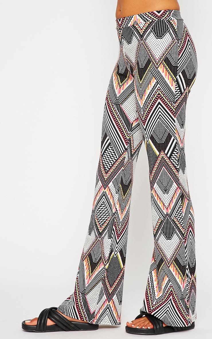 Val Aztec Print Flare Trousers 3