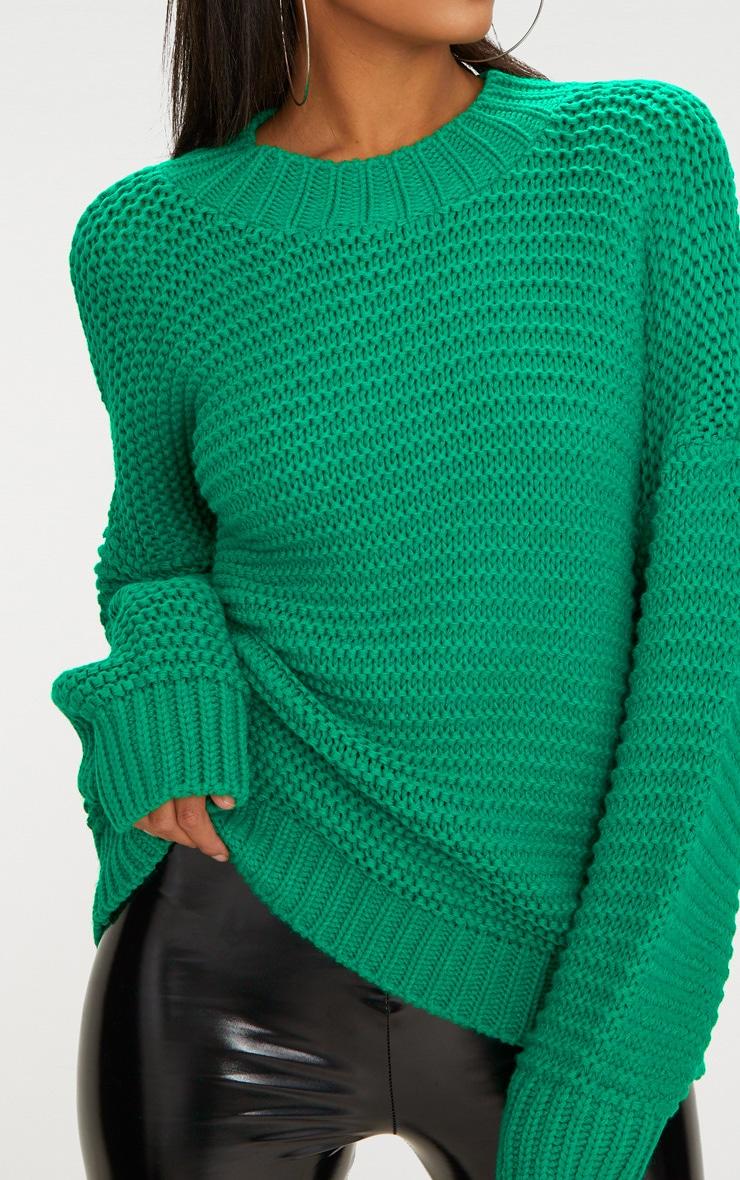 Emerald Green Oversized Chunky Jumper 5