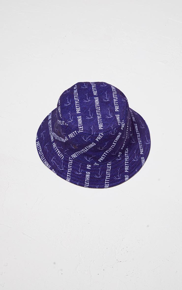 KARL KANI Denim Blue Bucket Hat 4