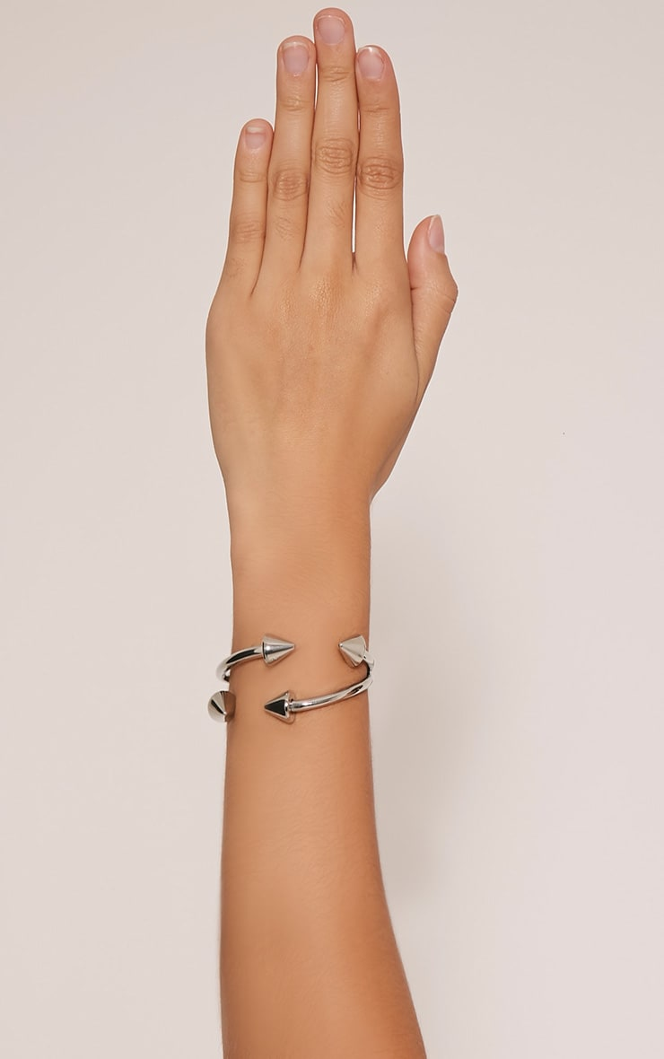 Livvy Silver Stud End Bangle 1
