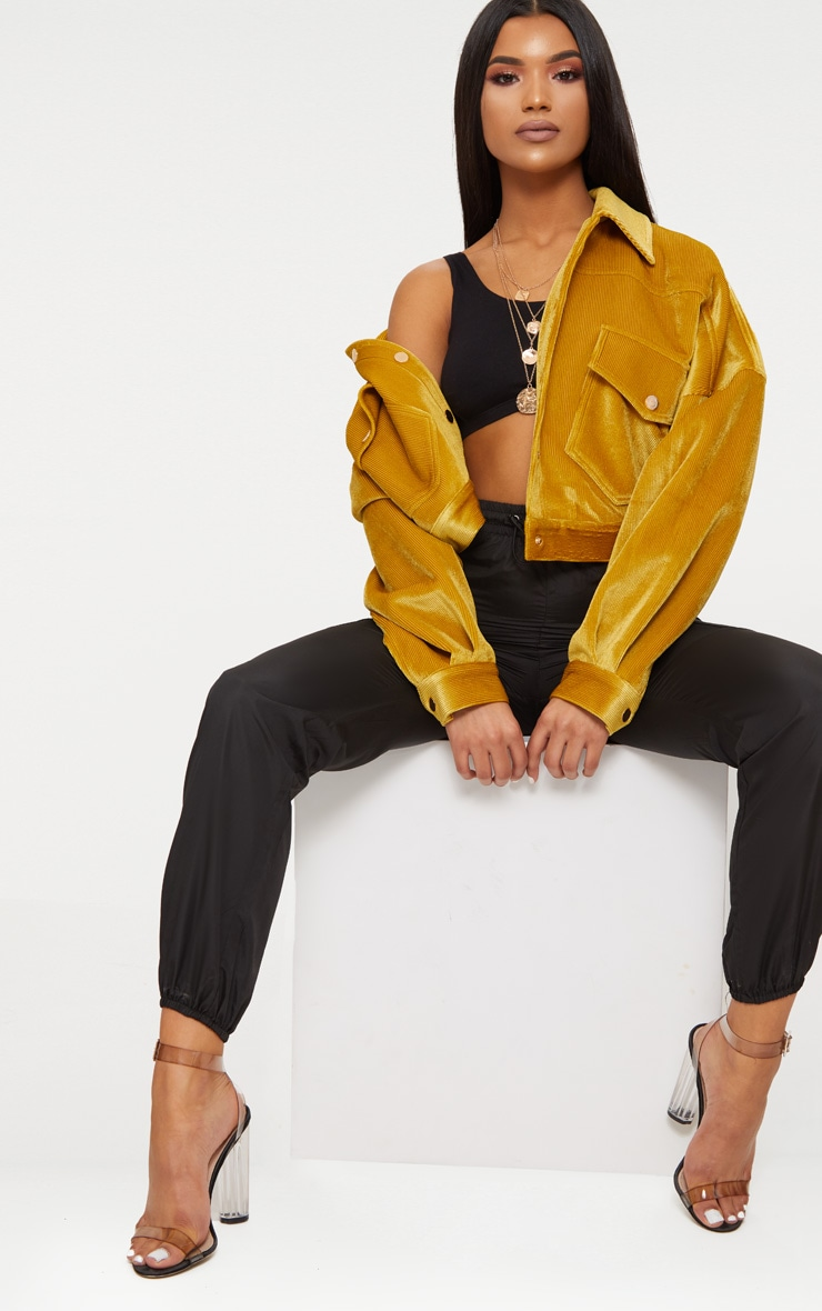 Mustard  Cord Oversized Trucker Jacket 3