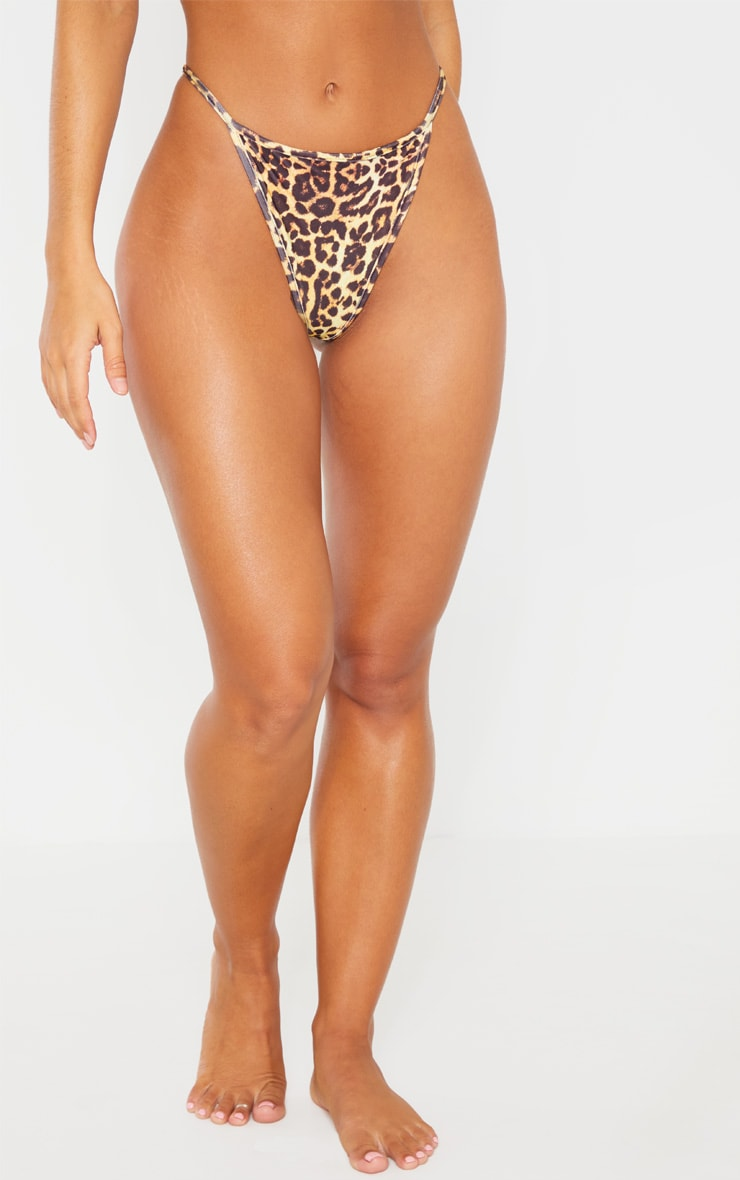 Leopard Mix & Match String Thong Bikini Bottom 2