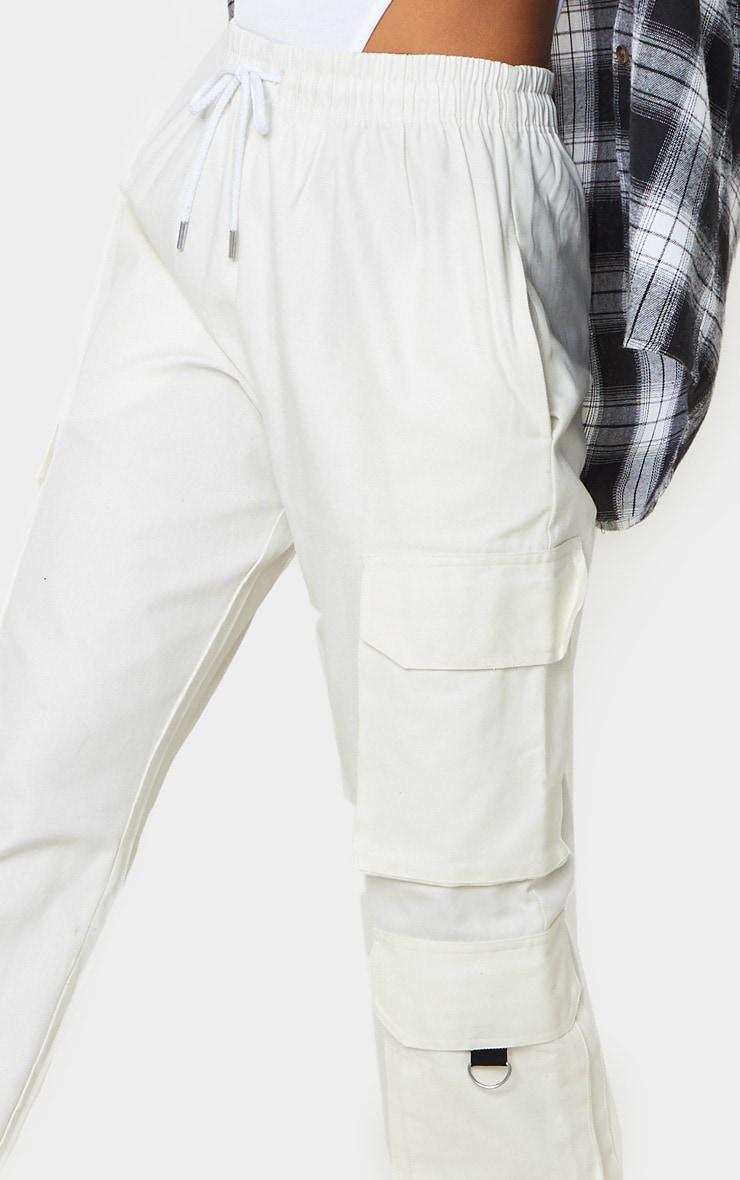 Cream Twill Oversized Utility Trouser 5