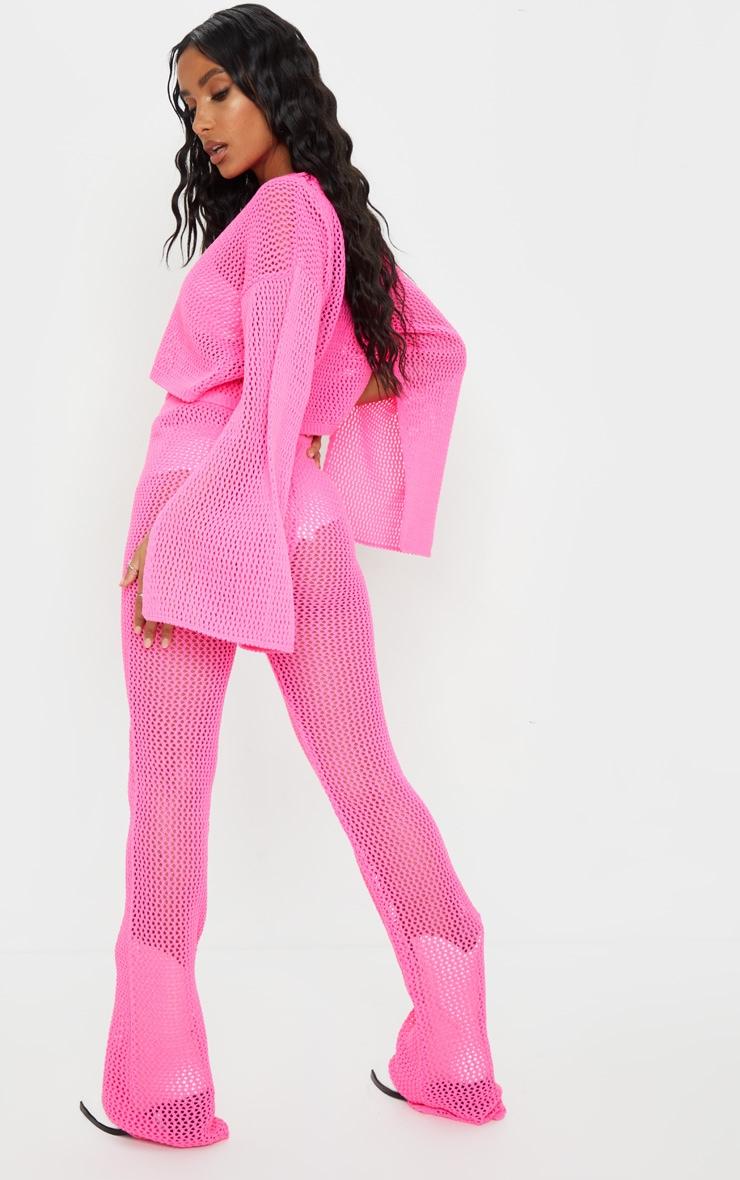 Pink Open Knitted Split Sleeve Set 2
