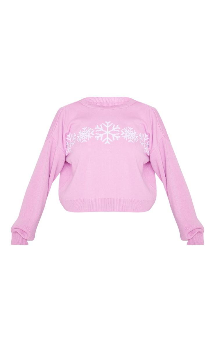 Pink Snowflake Christmas Jumper 3