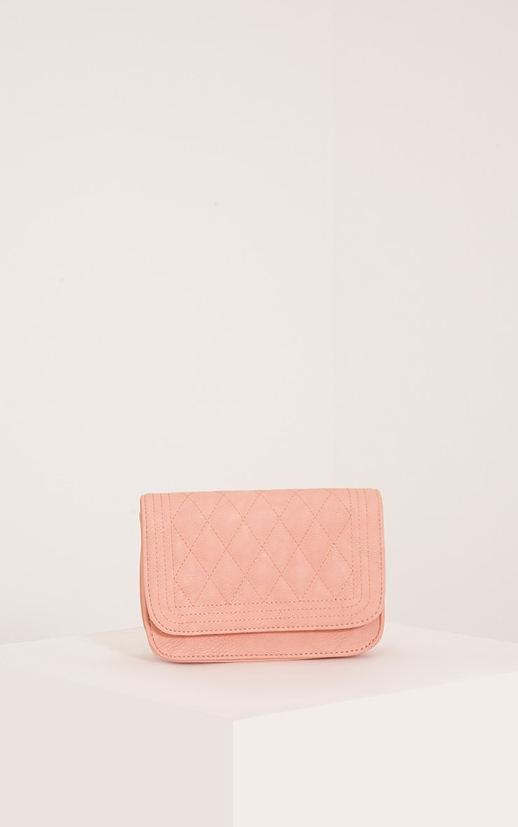Emma Nude Quilted Chain Strap Shoulder Bag 4